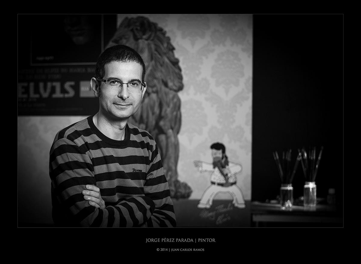 JORGE PEREZ PARADA PINTOR POR JUAN CARLOS RAMOS FOTOGRAFO RETRATO TOLEDO